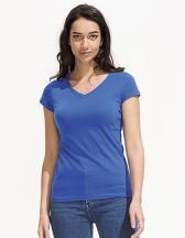Ladies V-Neck-T-Shirt Moon